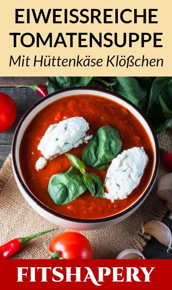 Eiweißreiche Tomatensuppe Rezept
