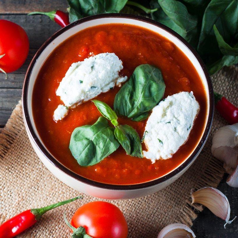 Gesunde Tomatensuppe zum Abnehmen