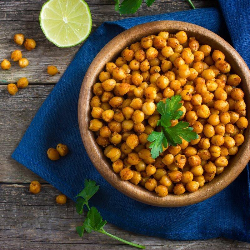Geröstete Kichererbsen - Veganer Fitness Snack