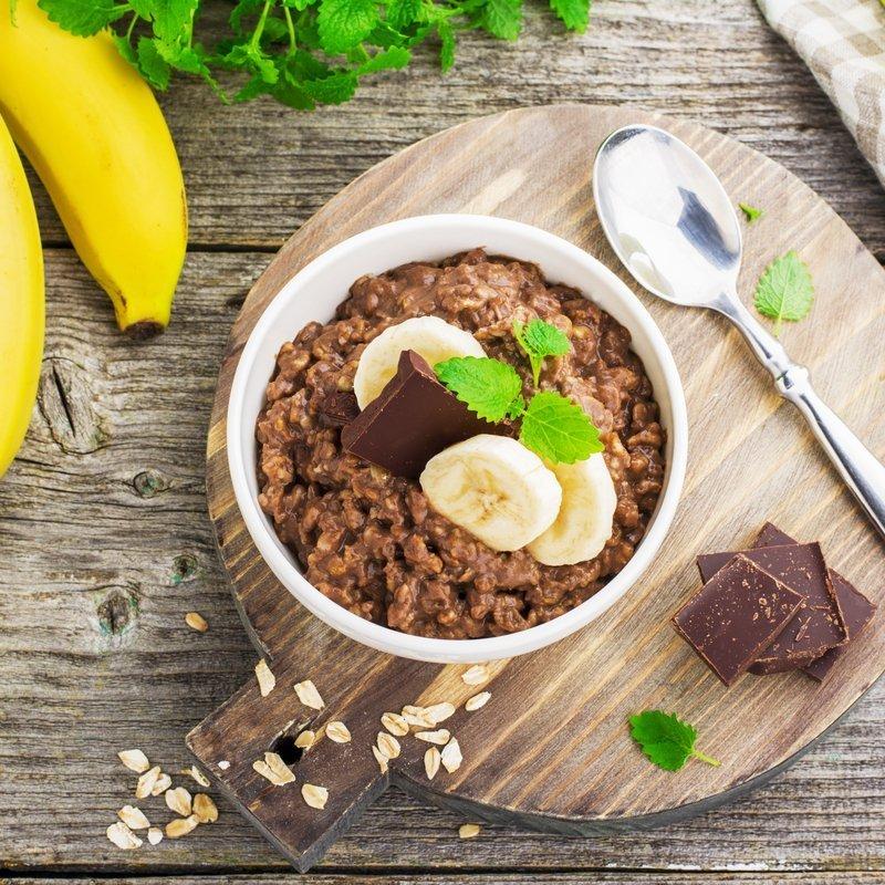 Schoko Porridge als gesundes Frühstück