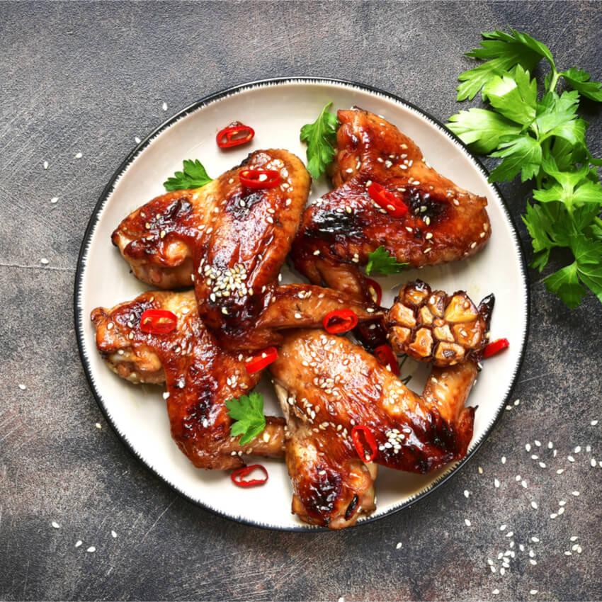 Spicy Hähnchenflügel mit köstlicher Marinade