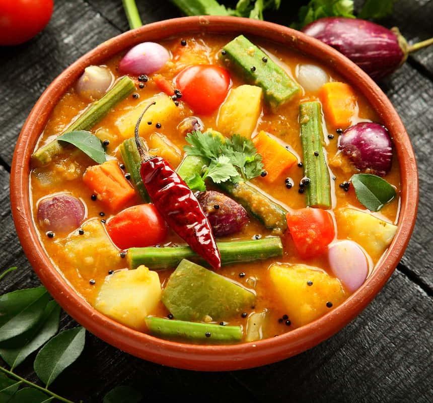 Veganes Low Carb Gemüse Curry