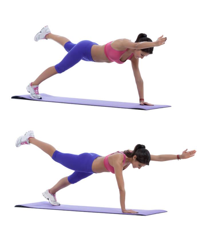 Diagonal Plan als Übung für die Bauchmuskulatur