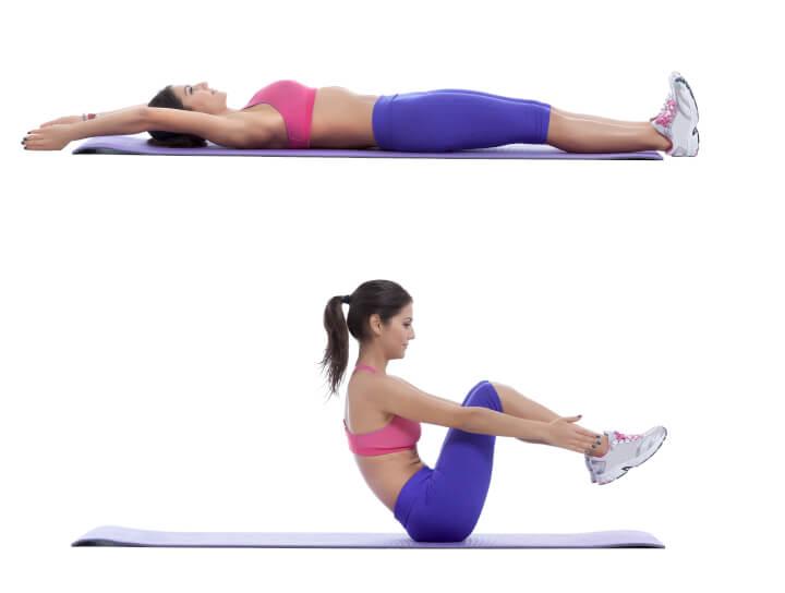 V Situp für die Bauchmuskeln