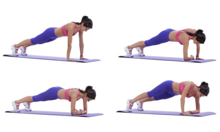 Bauchmuskel Übung fürs Frauen Bauch Training