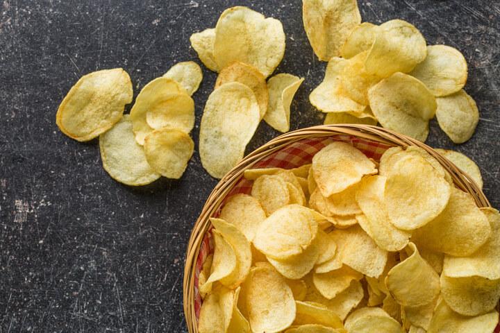 Chips als schlechtes Lebensmittel zum Abnehmen