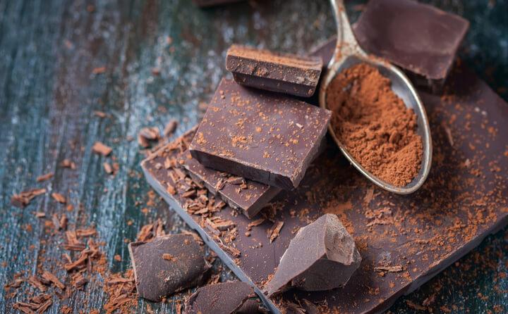 Dunkle Schokolade als gesunder Snack