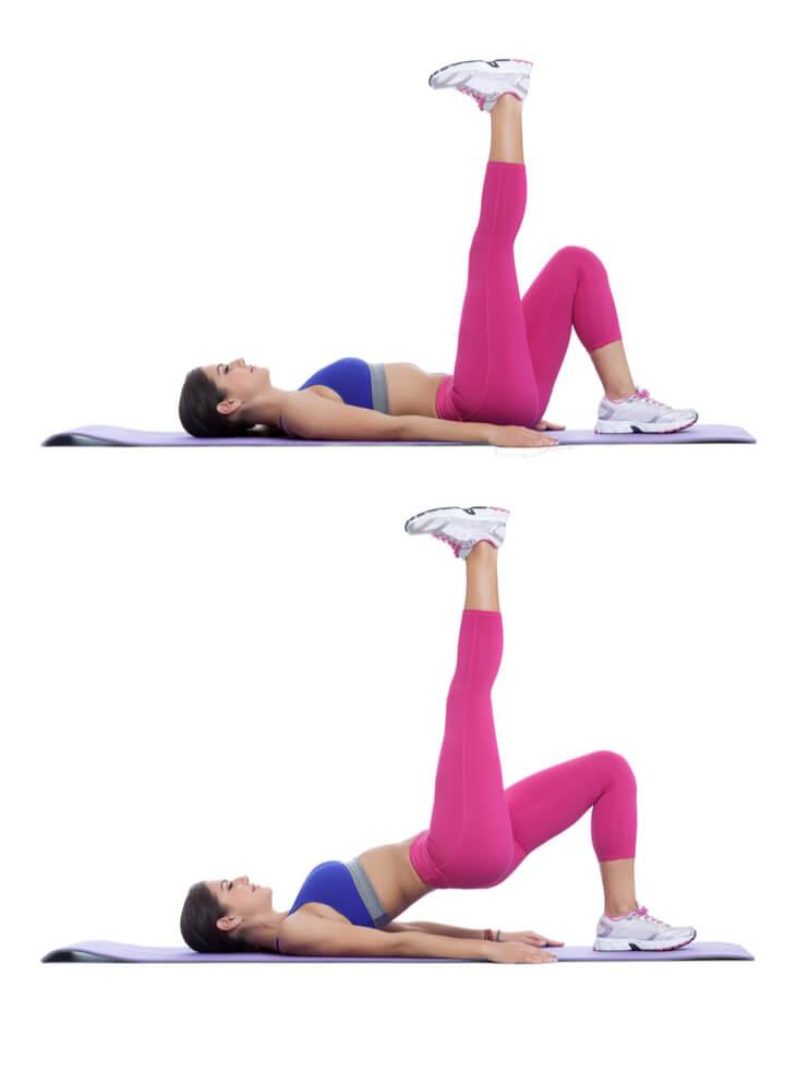 Einbeinige Hip Thrusts als Bein Übung