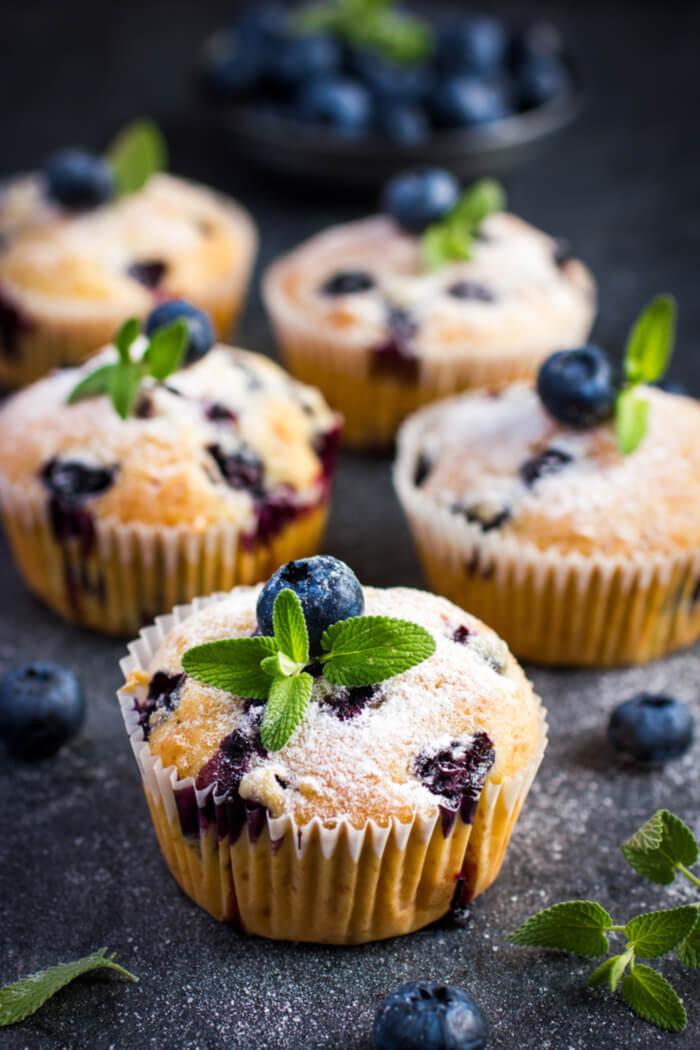 Heidelbeer-Muffins mit Skyr