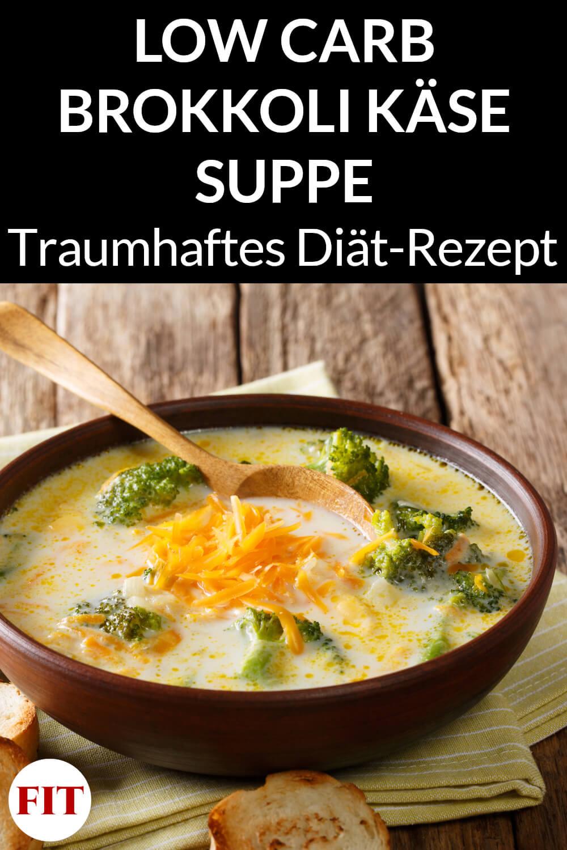 Low Carb Suppe mit Brokkoli und Käse