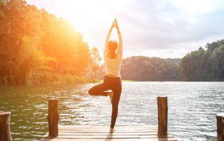 Morgen Yoga am See