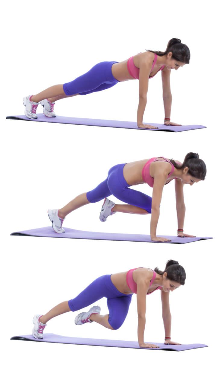 Plank Twists als Bauch Übung für Frauen
