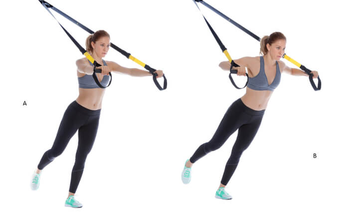 Brustpresse im Schlingen Trainer Workout