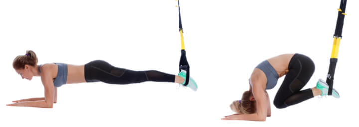 Reverse Crunches als Sling Trainer Übung