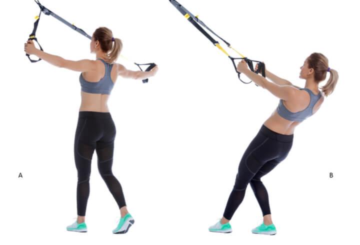 Reverse Fliegende im Sling Trainer Workout