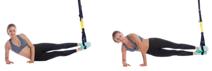 Side Planks als Sling Trainer Übung