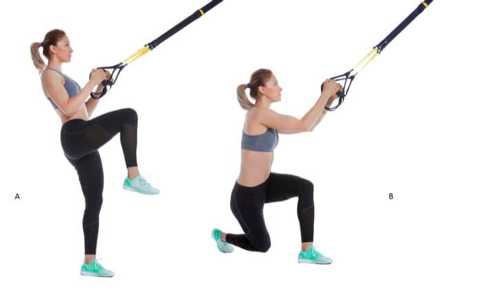 Sling Trainer Übung für die Beine
