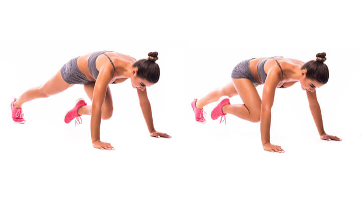 Bergsteiger als Übung fürs HIIT Workout