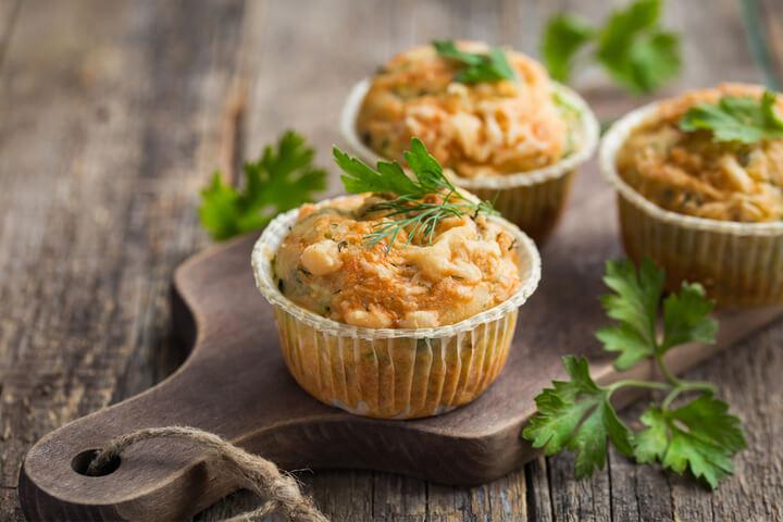 Pikante Haferflocken Muffins