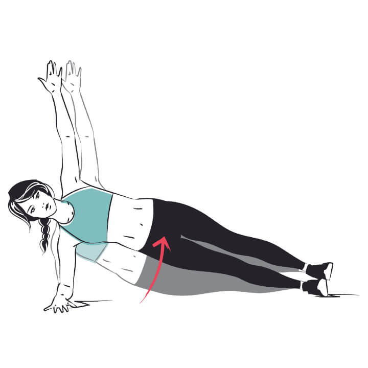 Dynamische Side Plank Übung