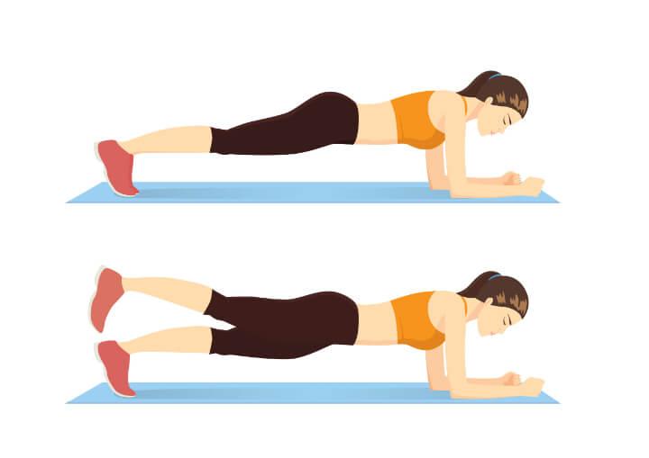 Low Plank mit Beinheben