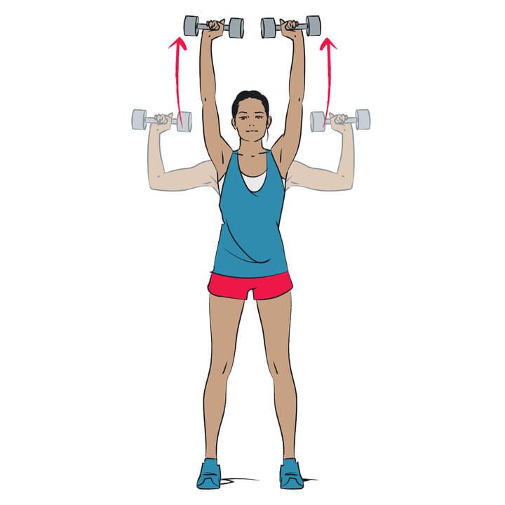Schulterdrücken als Übung gegen Winkearme