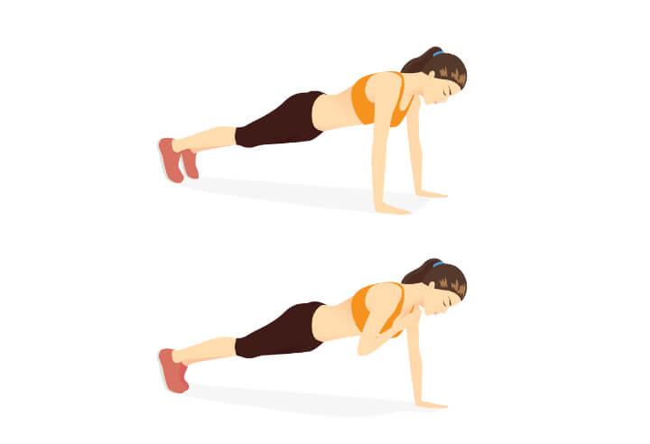 Shoulder Tap Plank Übung