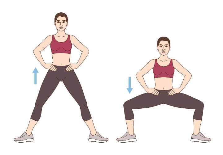 Sumo Kniebeugen für dünnere Oberschenkel