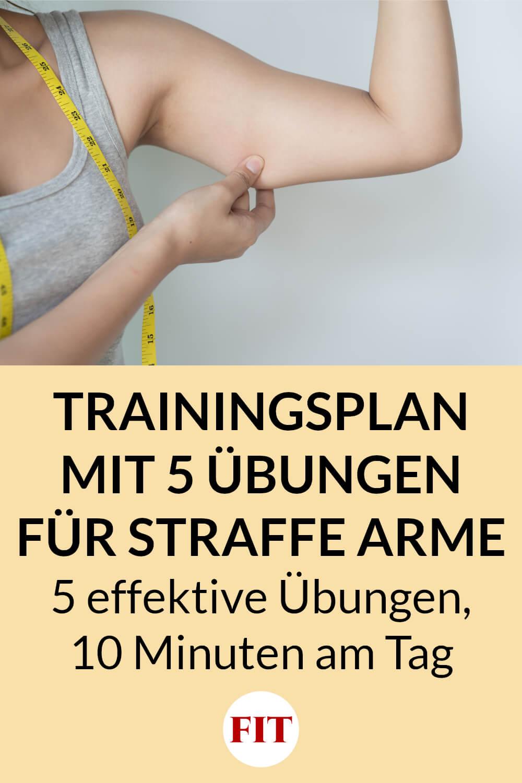 Trainingsplan mit Übungen gegen Winkearme