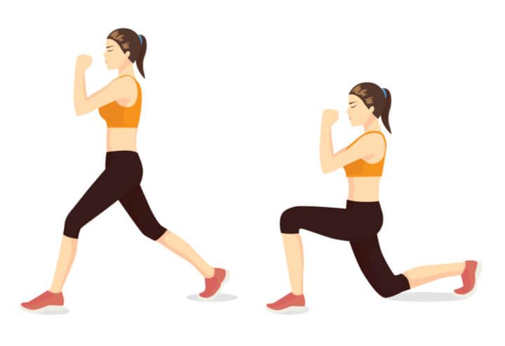 Ausfallschritte im Ganzkörper Workout
