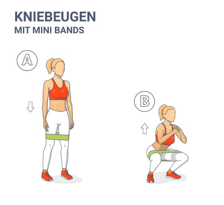 Kniebeugen mit Minibands