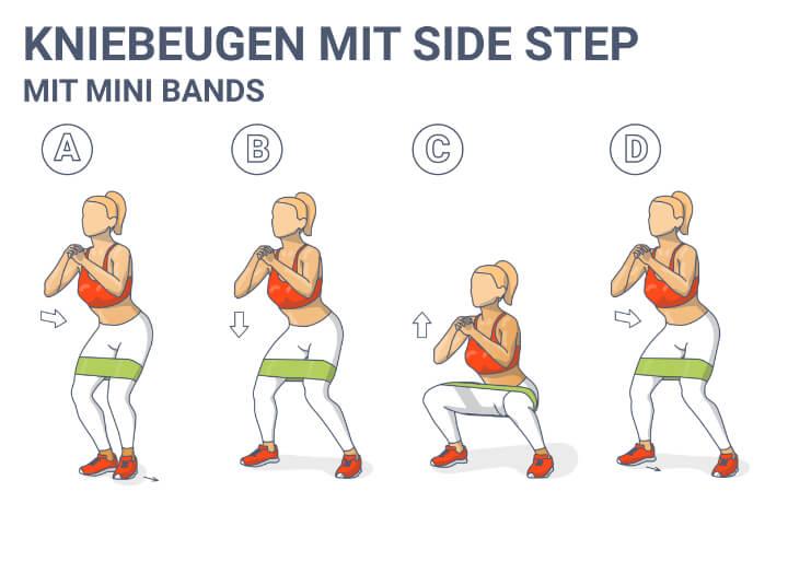 Kniebeugen mit Side Step
