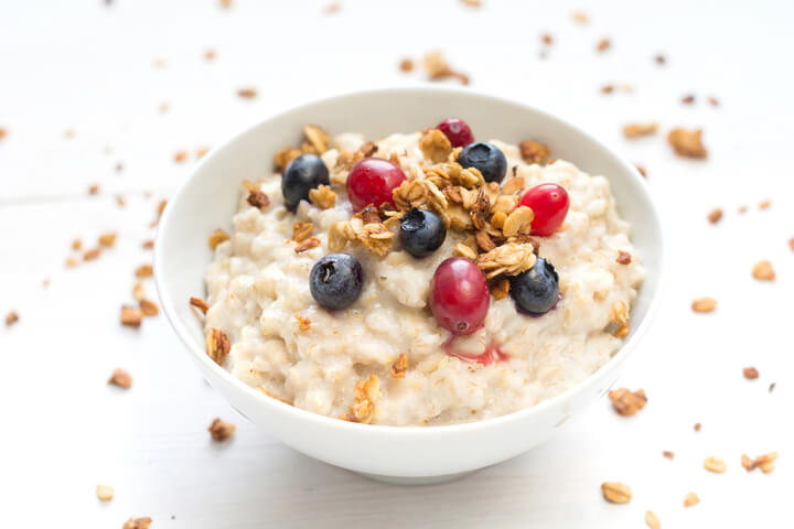 Porridge als gesundes Frühstück zum Abnehmen