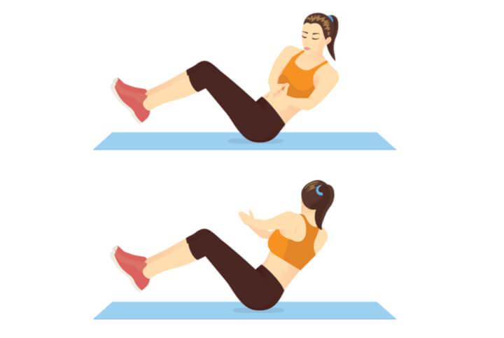 Russian Twists Übung fürs Ganzkörper Workout