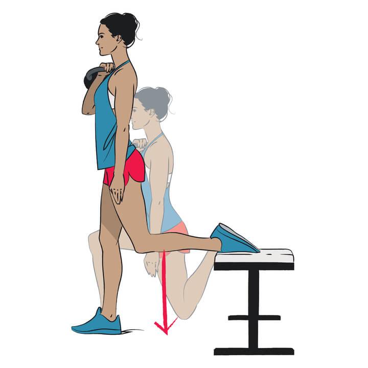 Innere Oberschenkel trainieren mit Split Squats