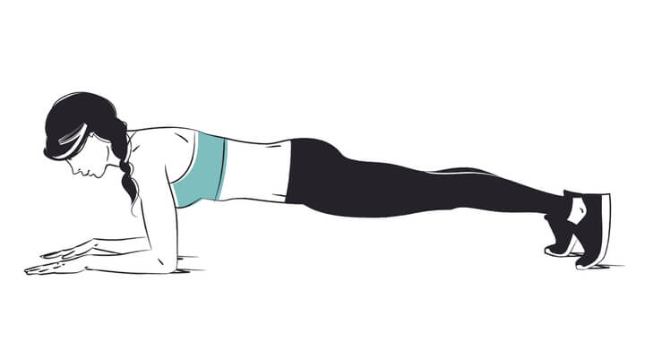 Planks zum Abnehmen an der Hüfte